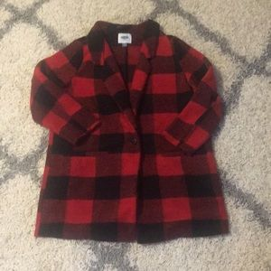 Old navy plaid / checkered wool coat